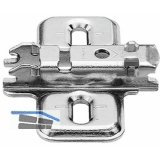 BLUM CLIP Kreuzmontageplatte, Spax-Schrauben, HV: Langloch, Distanz 0 mm