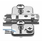 BLUM CLIP Kreuzmontageplatte, EXPANDO für Zwillingsanschlag,Exzenter, D: 0 mm