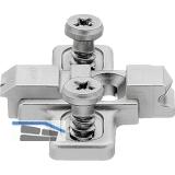 BLUM CLIP Kreuzmontageplatte, vorm. Systemschrauben, HV: Langloch, Distanz 0 mm