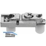 BLUM CLIP Montageplatte, Zink, gerade, Einpressen, HV: Exzenter, Distanz 0 mm