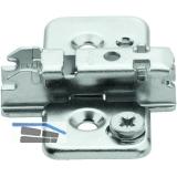 BLUM CLIP Kreuzmontageplatte, Spax-Schrauben, HV: Exzenter, Distanz 3 mm
