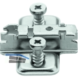 BLUM CLIP Kreuzmontageplatte, vorm. Systemschrauben, HV: Langloch, Distanz 3 mm