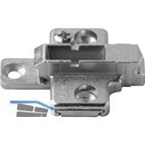 BLUM CLIP Kreuzmontageplatte, Spax-Schrauben, HV: 2-teilig, Distanz 3 mm