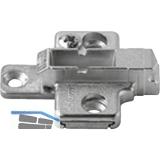 BLUM CLIP Kreuzmontageplatte, Zink, Systemschraube, HV: 2-teilig, Distanz 3 mm