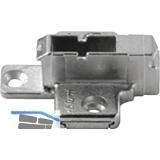 BLUM CLIP Kreuzmontageplatte, Zink, Systemschraube, HV: 2-teilig, Distanz 9 mm