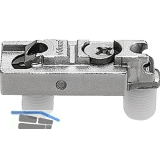 BLUM CLIP Montageplatte, Zink, gerade, Einpressen, HV: Exzenter, Distanz 3 mm