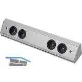 Steckdosenleiste Corner Compact 230 V, max.3500 Watt, L 460 mm, Edelstahl Effekt