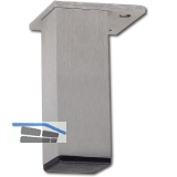 Dekorfuß 40x40 mm, Länge 120 mm, fix, Aluminium gebürstet