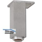 Dekorfuß 40x40 mm, Länge 120 mm, verstellbar, Aluminium gebürstet