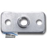 Montageplatte für Dekorfüße Holz/Edelstahl 40x20 mm, Stahl verzinkt
