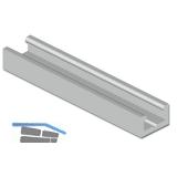 Dichtungs-Halteprofil Isostar SL, 2000 mm, Aluminium naturblank