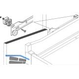 BLUM Distanzteile Innenschubkasten-Teilauszug 4 ohne Dübel, KS cremeweiß