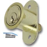 JuNie 2960 Zylinder-Druckschloss Sperre BN 0101, Zylinder Messing poliert