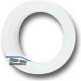 Drückerführung 16 mm, Kunststoff weiß