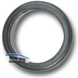 Drückerführung 18 mm, Kunststoff schwarz