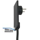 EVOline Plug-Schukostecker, max.3500 Watt, Kunststoff schwarz