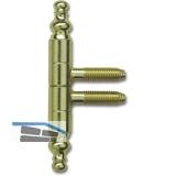 Stil Einbohrband, Band-ø 9 mm, Zink vermessingt