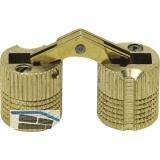 Exakt Einbohr-Scharnier Bohr ø 10 mm, Holzstärke 14-19 mm, Messing blank