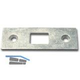 Schließblech für Einlegstangen gerade, 53 x 18 mm, Stahl verzinkt