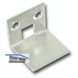 Schließblech für Einlegstangen gekröpft, 21 x 25 mm, Stahl verzinkt