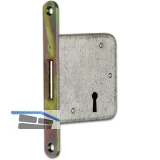 Einstemm-Riegelschloss 61005 tosisch, DM 50 mm, links, Stahl gelb passiviert