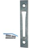 Schließblech zu Einstemmzunge, eckig, 85 x 15 x 1,25 mm, Stahl verzinkt