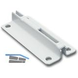 Classic Einzelhalterung 10005, 34x70, Stahl, weiß-alu (RAL 9006)