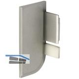 Endkappe Aktor L-Profil links, Kunststoff silberfarbig