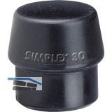 Schonhammer-Einsatz Kopfdurchmesser 40 mm Gummi schwarz