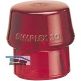 Schonhammer-Einsatz Kopfdurchmesser 40 mm Plastik rot