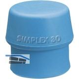 Schonhammer-Einsatz Kopfdurchmesser 40 mm TPE-Soft blau