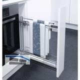 VAUTH-SAGEL Etagenauszug/Handtuchhalter, 83 x 80 x 470 mm, silber RAL 9006