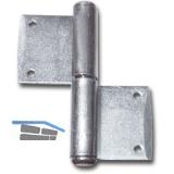 Fensternussband, rechts, Bandhöhe 80 mm, Stahl verzinkt