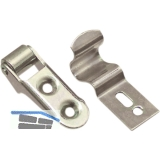Fensterschnapper m. Rolle und Federschließhaken, Stahl verzinkt
