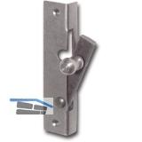 Fensterspreizel mit Eisenknopf, links, 45 mm, Stahl blank
