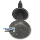 SCHÖRGHOFER Fensterziehknopf AIST - verdeckt geschr., 25 mm, Eisen alt gebürstet