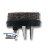 SECOTEC Gleitnägel Puntak mit Filz zum Nageln schwarz 19 mm SB-20 BL3