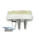 SECOTEC Gleitnägel Puntak mit Filz zum Nageln weiß 19 mm SB-20 BL3