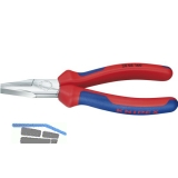 KNIPEX Flachzange DIN 5749 mit kurzen, flachen Backen 2K-Griff Länge 160 mm