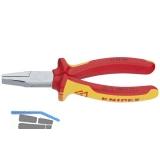 KNIPEX VDE-Flachzange DIN 5745 mit kurzen, flachen Backen Länge 160 mm