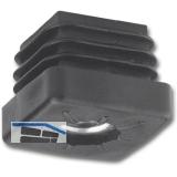Fußkappen für Quadratrohr-mit Gewindeloch M10, 25 x 25, Kunststoff schwarz