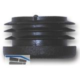 Fußkappen für Rundrohr innen, Rohr ø 16mm, Wandstärke 0,8-2 mm. KS schwarz
