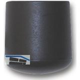 Fußkappen für Rundrohr außen, Rohr ø 60 mm, Kunststoff schwarz