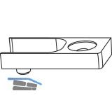 GU-966 mZ Schließplatte, Schema C, Montage auf Falzhebelverschluss, Zink silber