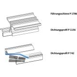 GU-937/934 HS Führungsschienen-Set oben P1786, L=3000 mm, silber eloxiert