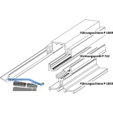 GU-937/934 HS Führungsschienen-Set oben P1850, L=3500 mm, silber eloxiert