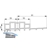 GU Thermostep 204 Aufsatzschiene 19/81 P1993, TS 88 mm, L=2500 mm