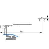 GU Thermostep 204 Trittschwellen-Set 5/180, L=5000 mm, IV88-92, Alu silber