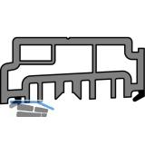 GU Thermostep/Timberstep Aufsatzschiene P1634, L=1500 mm, Kunststoff grau