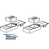 GU Timberstep Rahmen-Eckverbinder-Set unten IV68